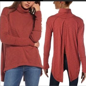 Free people we the free rust split back turtleneck
